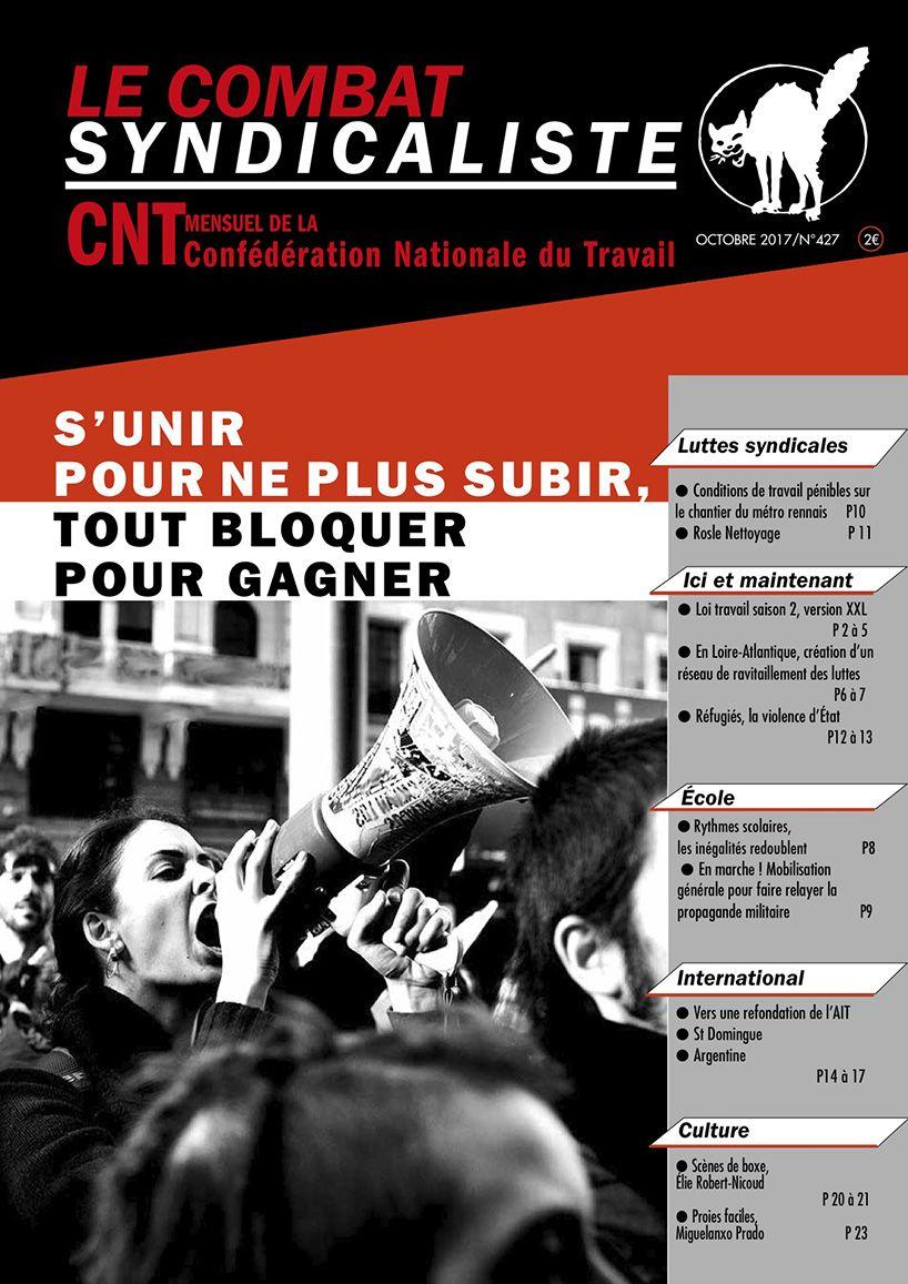 Combat Syndicaliste n°427 - Octobre 2017