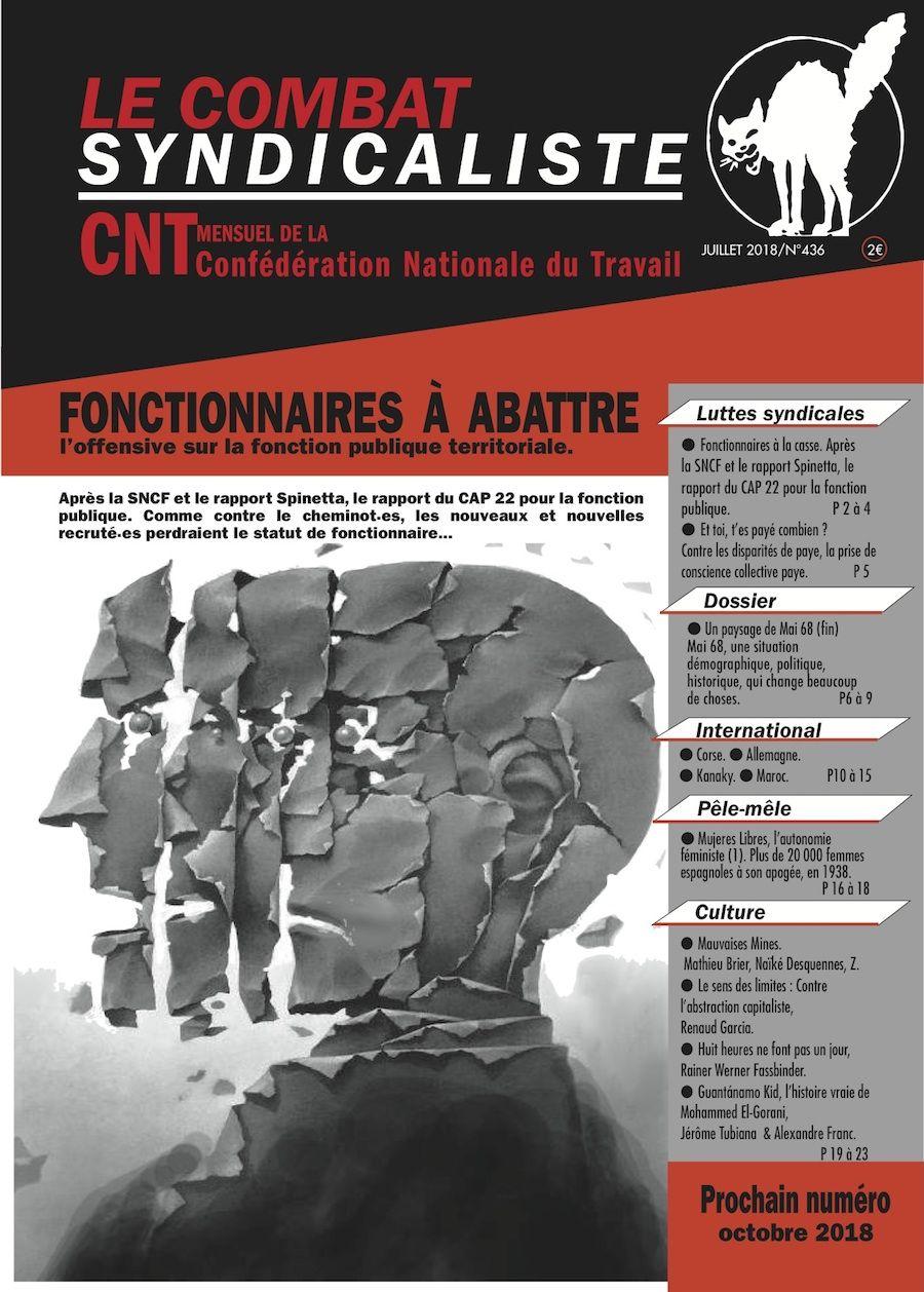 Combat Syndicaliste n°436 - Eté 2018