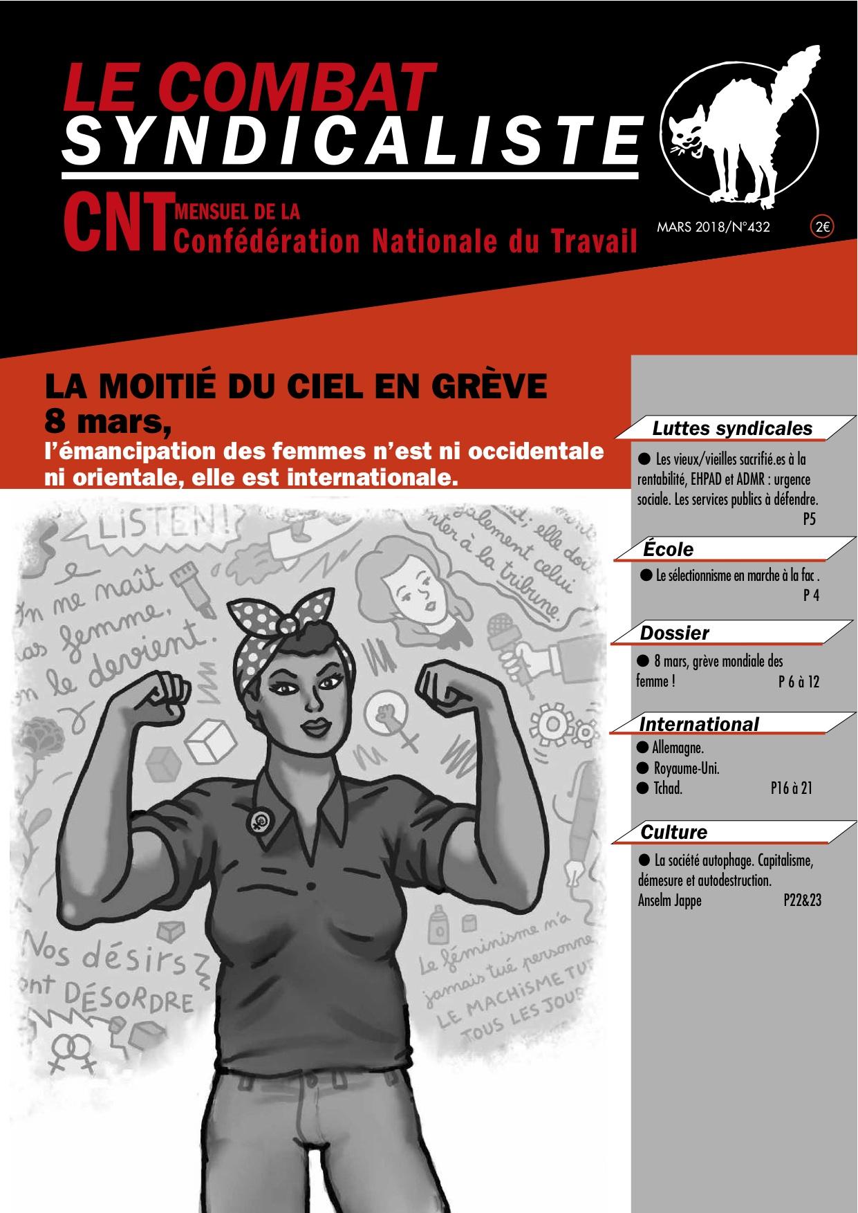 Combat Syndicaliste n°432 - Mars 2018