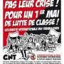 CNT INTERNATIONAL CALL FOR A FIRST OF MAY OF CLASS STRUGGLE