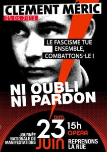 affiche_Clement_appel_antifa_Paris_23_juin_2013