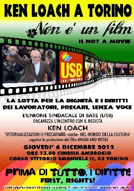affiche-unione-sindicale-di-base-USB-rencontre-Ken-Loach-Turin-6dec2012-format270