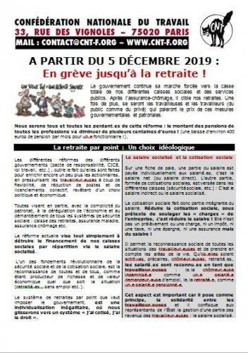 le 5 décembre : en grève jusqu'à la retraite !