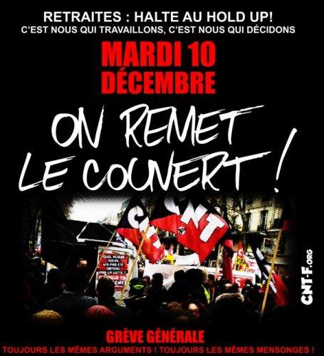 Le 10 décembre : on ne lâche rien !!!!